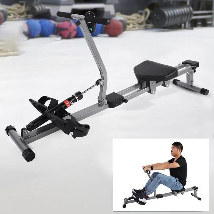 Rameur cardio-Rameur en acier-Machine à ramer-Accessoire de remise en forme de gymnastique à la maison -VQU