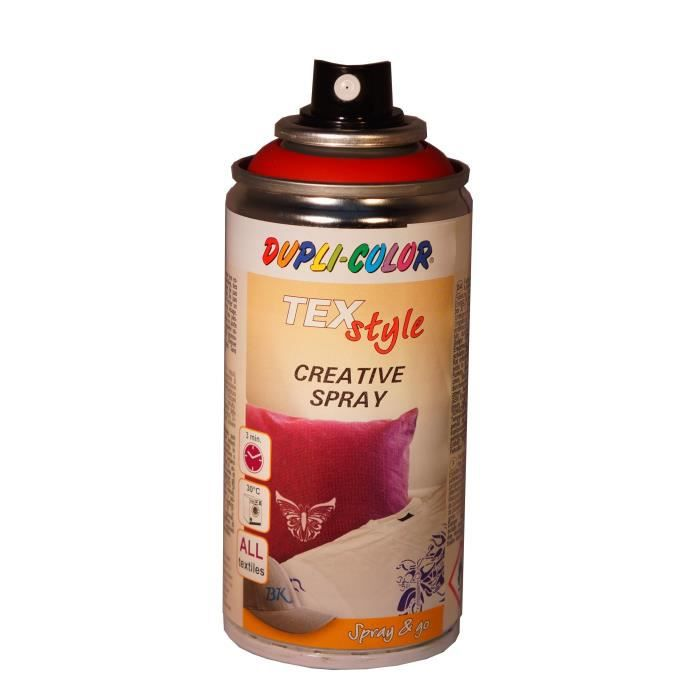 Peinture Textile Spray, Rouge, 150 ml Duplicolor - MO319884