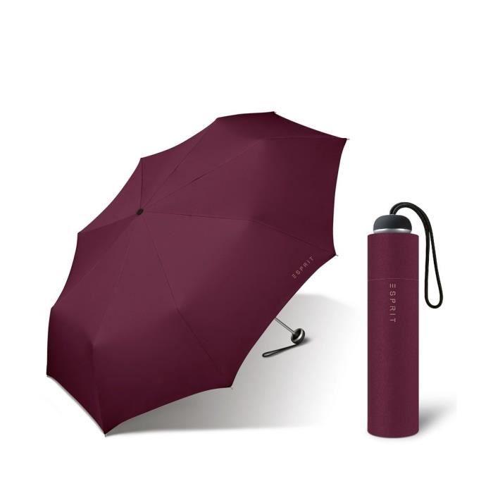 Esprit - Petit parapluie pliant manuel femme Mini Alu Light windsor wine 51388 taille 23 cm