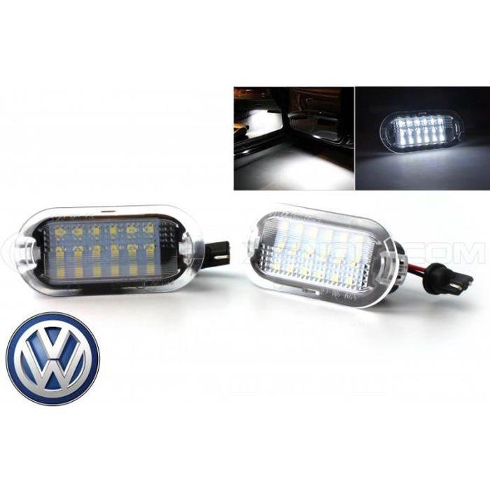 Pack 2 modules éclairage LED pour Portes - Eclairage de coming home LED pour Volkswagen, Skoda. Compatible sur Skoda Octavia, sur V