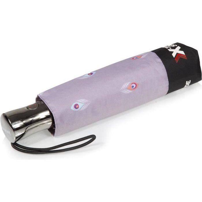 Isotoner Parapluie femme x-tra solide anti retournements paon