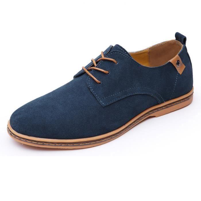Chaussures de ville homme cuir Suede DERBY BLEU