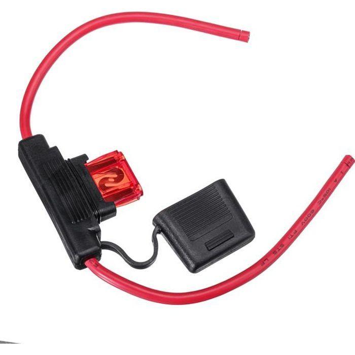 NEUFU en ligne standard porte-fusible lame étanche pour les fusibles 12V 50A pour voiture 4WD batteries
