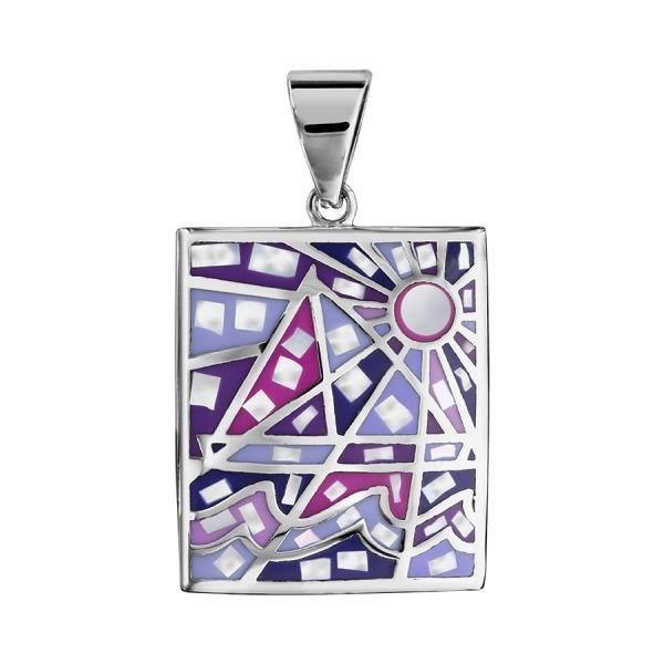 Stella Mia - Pendentif dégradé violet