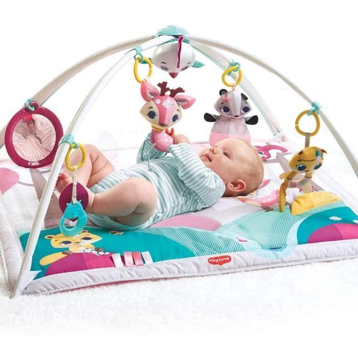 Tiny Love Gymini Tapis d'éveil bébé Fille Musical, Dès la naissance, Collection Princesse