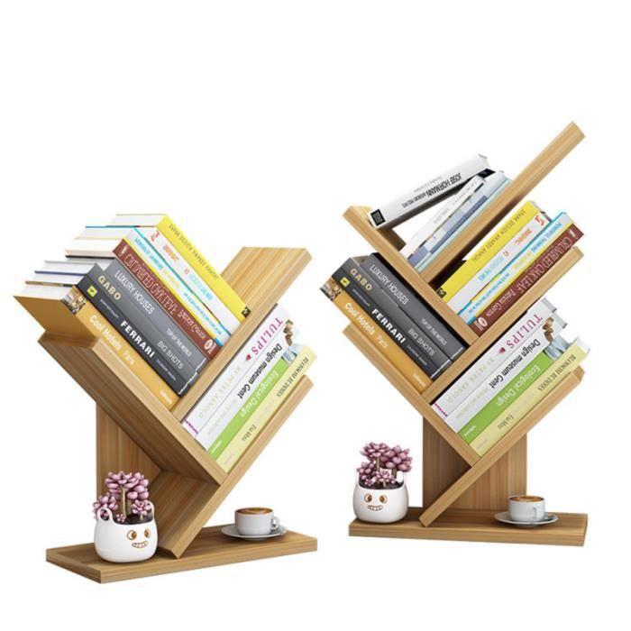 5 couches bibliothèques en bois arbre de table étagère petite bibliothèque de bureau support de stockage de mode BIBLIOTHEQUE