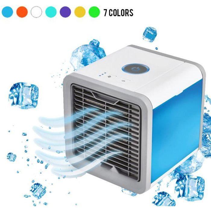 YOLISTAR Climatiseur portable - Mini Refroidisseur d'Air avec 3 Vitesse, 4 en 1 Fonction - Ventilateur de Personnel avec 7 couleurs