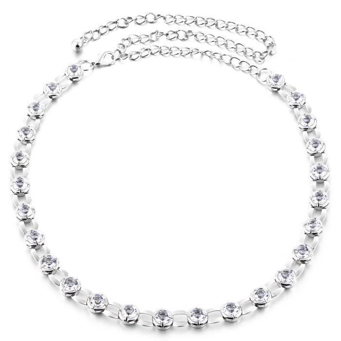 CHAINE DE TAILLE - CHAINE D'EPAULE Mesdames Argent Or Diamante Ceinture De Mode Chaîn