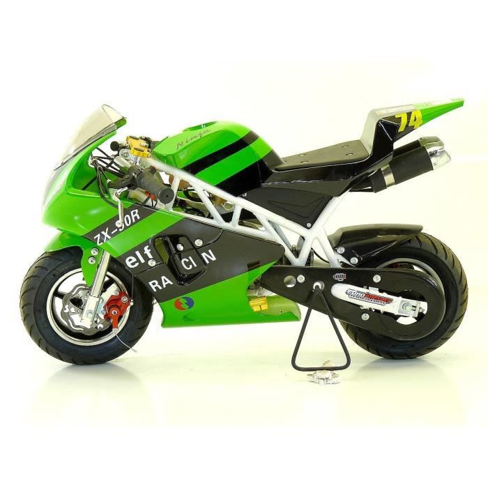 pocket bike piste 50cc mini moto enfant verte achat. Black Bedroom Furniture Sets. Home Design Ideas