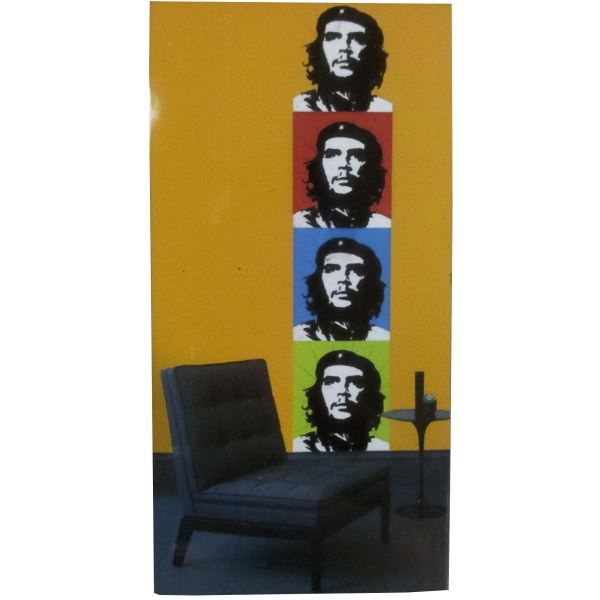 decor mural adhesif che guevara achat vente stickers cdiscount. Black Bedroom Furniture Sets. Home Design Ideas