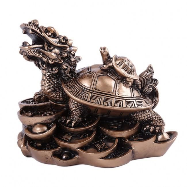 dragon tortue feng shui prosp rit et long vit achat vente statue statuette cdiscount. Black Bedroom Furniture Sets. Home Design Ideas