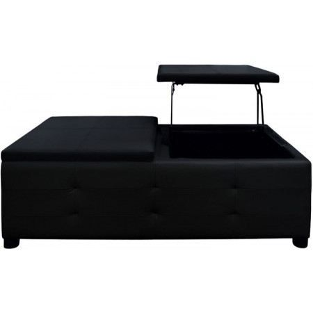 table basse avec plateau relevable noir luxor achat. Black Bedroom Furniture Sets. Home Design Ideas
