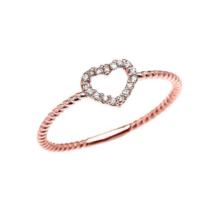 Cœur Rose Ruby Ailes D/'Ange Avec Cœur Chaîne Bracelet 14K or rose sur