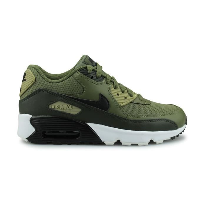 newest 83793 0a8af BASKET NIKE Baskets Air Max 90 Mesh - Enfant - Kaki