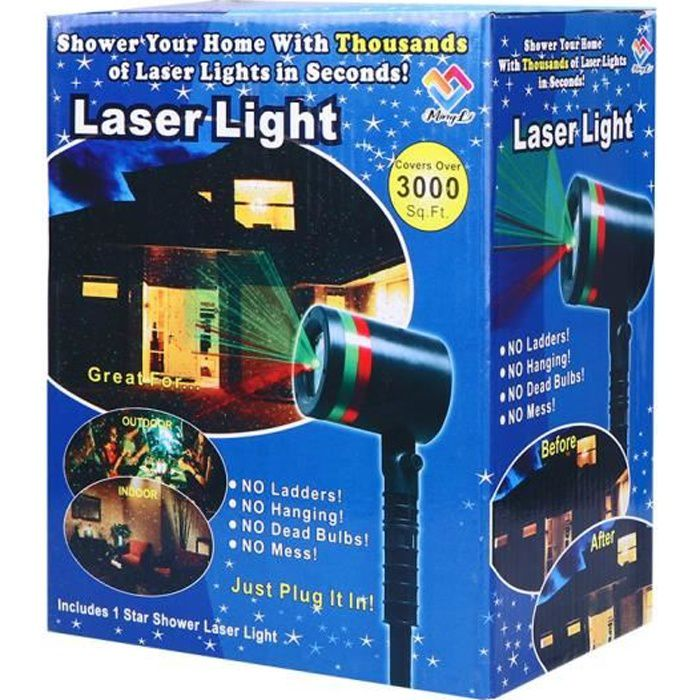 Lumiere exterieur noel achat vente lumiere exterieur noel pas cher black friday le 24 11 for Projecteur laser decoration de noel