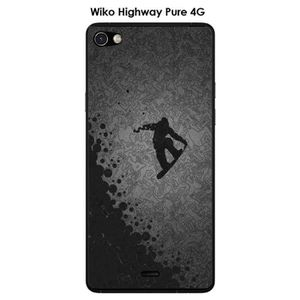 COQUE - BUMPER Coque Wiko Highway Pure design Lost in the sky Bla