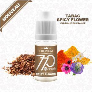 LIQUIDE E-LIQUIDE TABAC SPICY FLOWER 10ML EN 0MG DE NICOTI