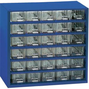 BOITE A COMPARTIMENT Armoire d'atelier 30 tiroirs bleu 305 x 160 x 2…