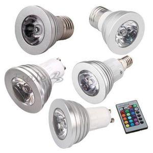 AMPOULE - LED E14-E27-GU10 LED Ampoule Bulb Spot Lampe 16 Couleu