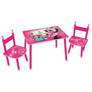 TABLE ET CHAISE Fun House Disney Minnie paris table +2 chaises pou