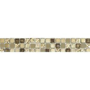 CARRELAGE - PAREMENT Listel en pate de verre et carrelage - 5 x 30 cm -
