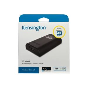 CARTE GRAPHIQUE INTERNE Kensington VU4000 4K Video Adapter Adaptateur vidé