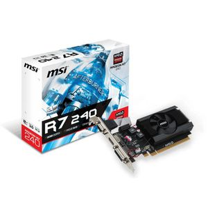 CARTE GRAPHIQUE INTERNE MSI Radeon R7 240 - 2 Go GDDR3 64 bit 1600 MHz, PC