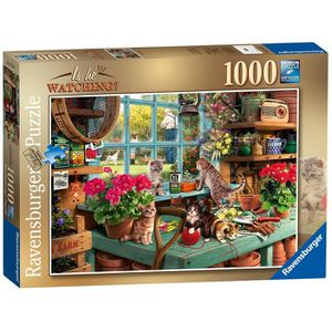 PUZZLE Ravensburger is he Watching?Puzzle 1000 pièces.
