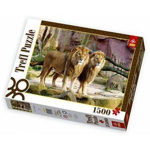 PUZZLE Puzzle 1500 pièces - Lions