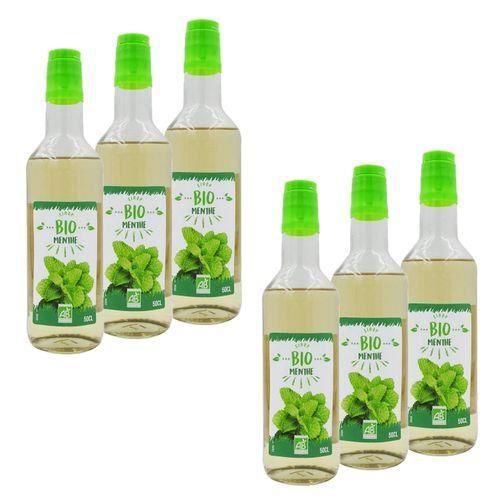 Sirop de Menthe BIO France - Lot de 6 bouteilles 50cl