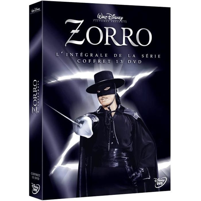 dvd coffret zorro l 39 int grale de la s rie coffret 13 dvd en dvd s rie pas cher witney. Black Bedroom Furniture Sets. Home Design Ideas