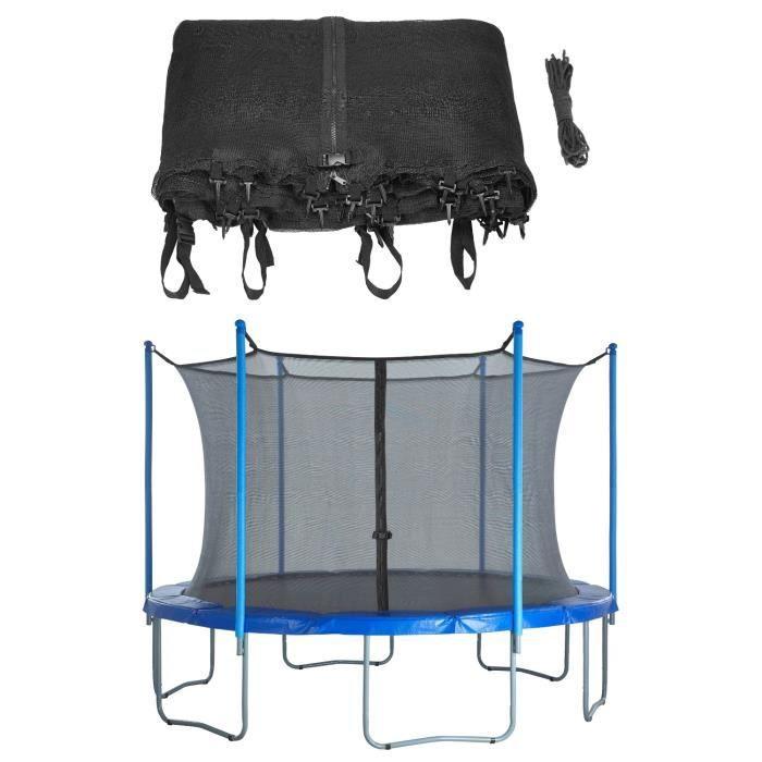 Filet de Sécurité de Remplacement pour Trampoline Rond 3.0 m - Bord Interieur - 4 Poteaux o 2 Arches (poteaux non inclus)