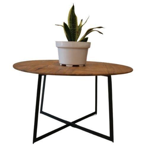 Table basse fer et bois de teck