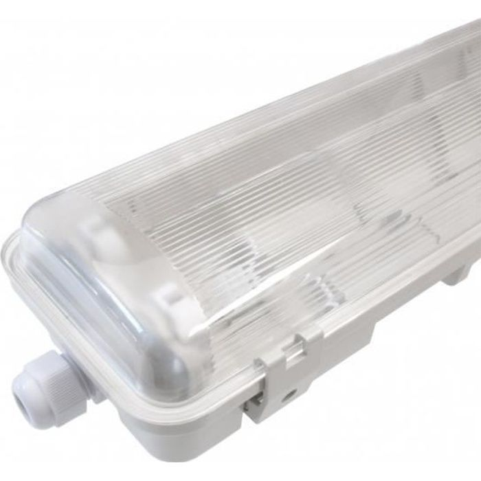 - Réglette/Boitier étanche pour Tube T8 LED - Double- 1285mm - IP65 - 120° - NOVA - DeliTech®