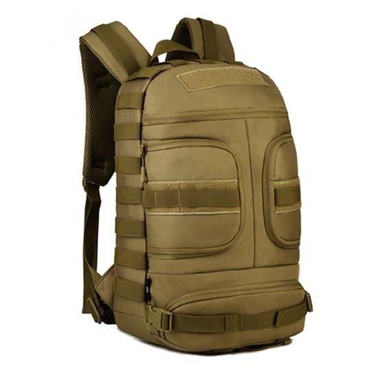 Khaki 30 - 40L -Sac à dos tactique d'extérieur de 35l, sac militaire Molle pour voyage escalade randonnée, sac à dos imperméable