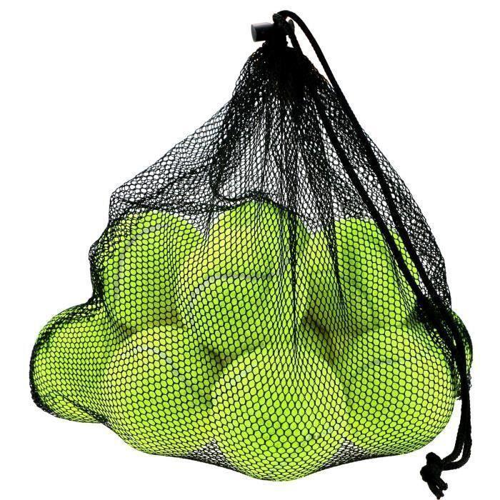 12 Pcs Balles de Tennis avec Sac de Transport Mesh, Balles pour Chien Chiot Lot Robuste et Durable réutilisable avec fermeture à