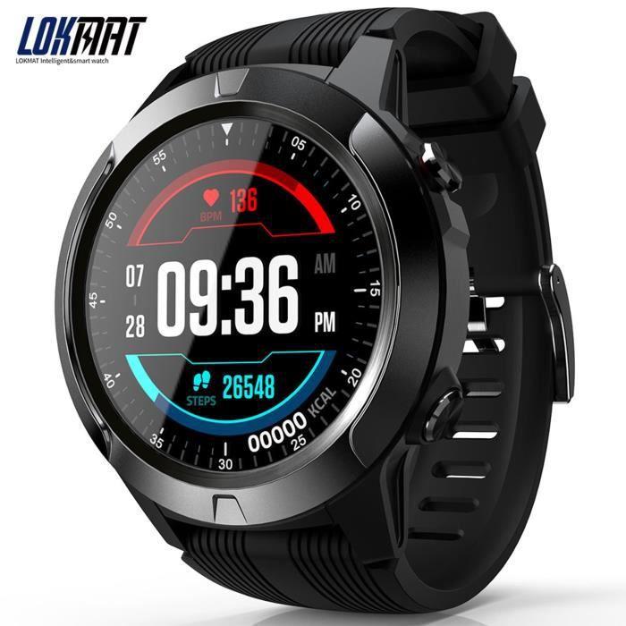LOKMAT SMA TK04 montre BT3.0 + 4.0 podomètre alarme de fréquence cardiaque caméra à distance GPS sport Smartwatch hommes femmes