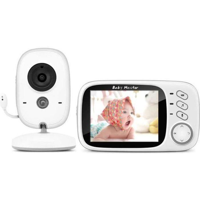 """PD17229-Moniteur Bébé, BOIFUN Babyphone Vidéo Caméra Surveillance Numérique Sans Fil avec 3.2""""LCD, VOX, Vision Nocturne, Commu"""
