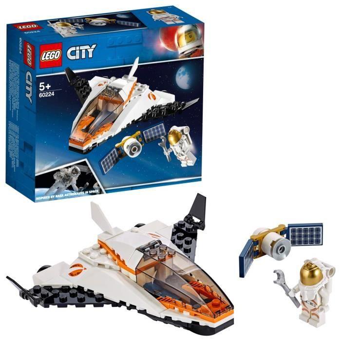 LEGO City - La mission d'entretien du satellite, Enfant 5 Ans et Plus, Jouet de Construction 84 Pièces - 60224