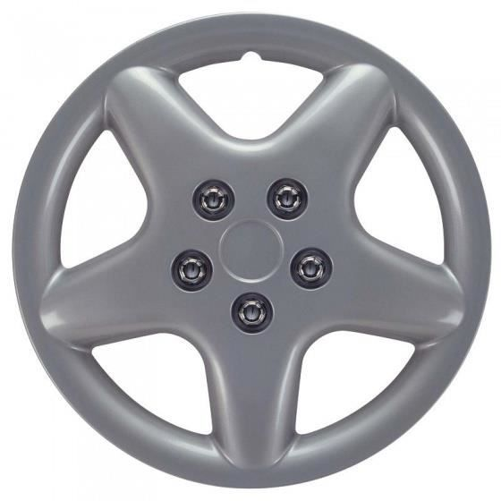 AutoStyle Enjoliveurs Idaho 15 pouces ABS gris lot de 4