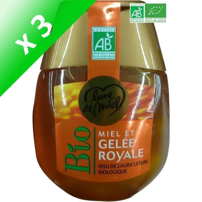 [LOT DE 3] Miel et gelée royale - Avec doseur - Bio - 250g