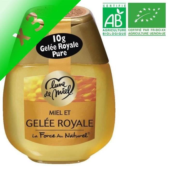 [LOT DE 3] Miel et gelée royale - Bio - 250g