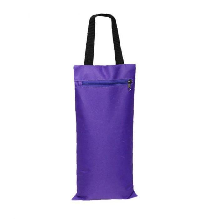 YOGA SANDBAG SANDBAG FILLER SANDBAG YOGA Ajout de la prise de poids Équipement d'accessoires avec poignée Zipper Purple