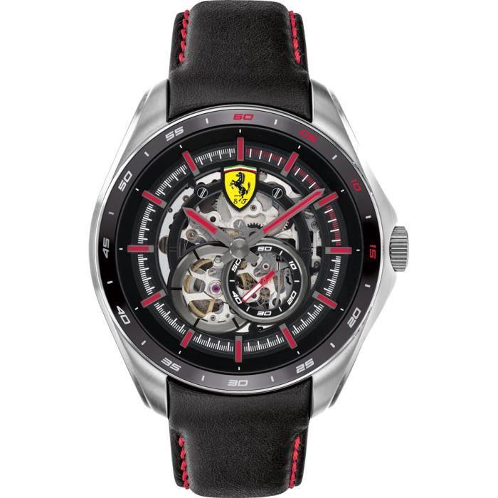 Ferrari-Montre Analogique pour Homme à movement Automatique en Cuir - 0830687