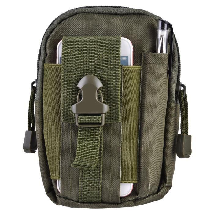 BEL Sac de Taille de Sport Tactique Portable Unisexe - Vert Armée