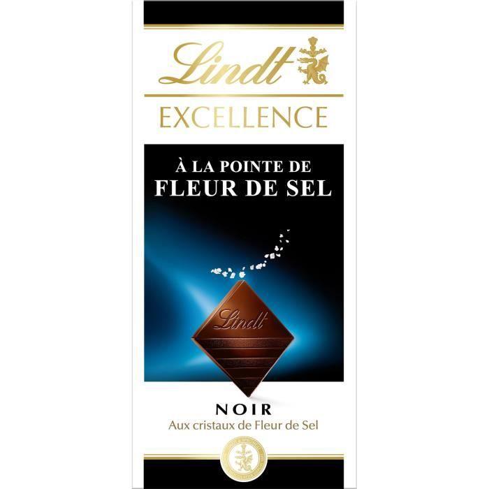 LINDT Chocolat noir/fleur de sel - 100 g