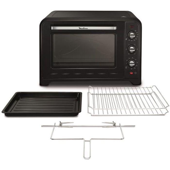 MOULINEX YY2917FB - Mini four grill - 60L - 2200 W - Grill 1200 W - Chaleur tournante - Noir