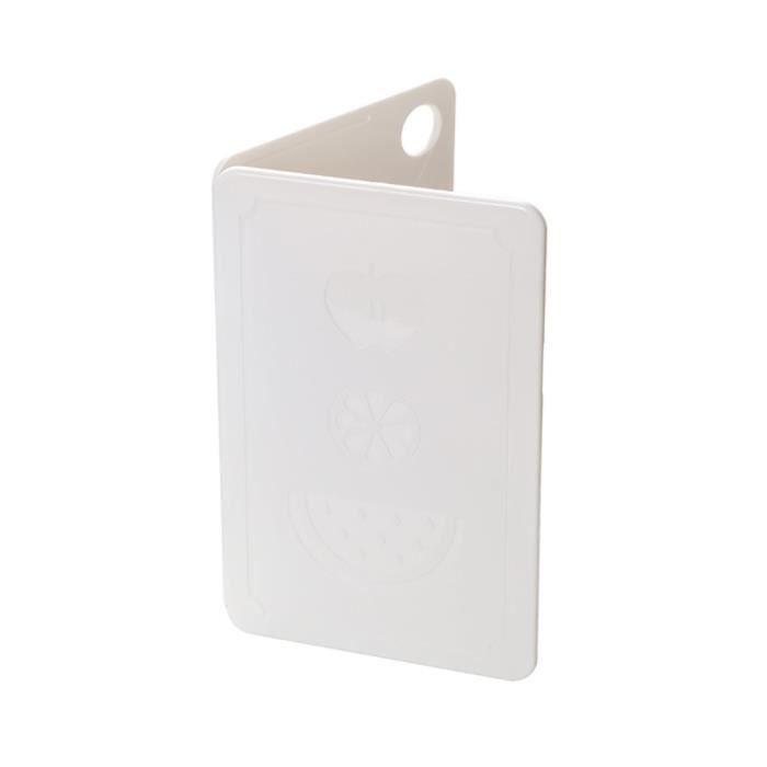 Planche à découper matérielle de ménage PP Planche à découper pliable Planche à découper portative-blanc