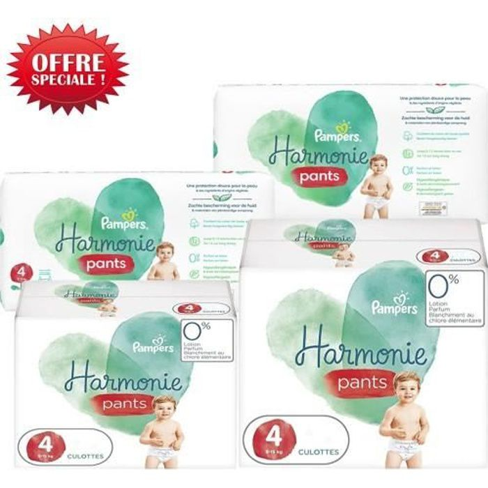 232 Couches Pampers Harmonie Pants taille 4