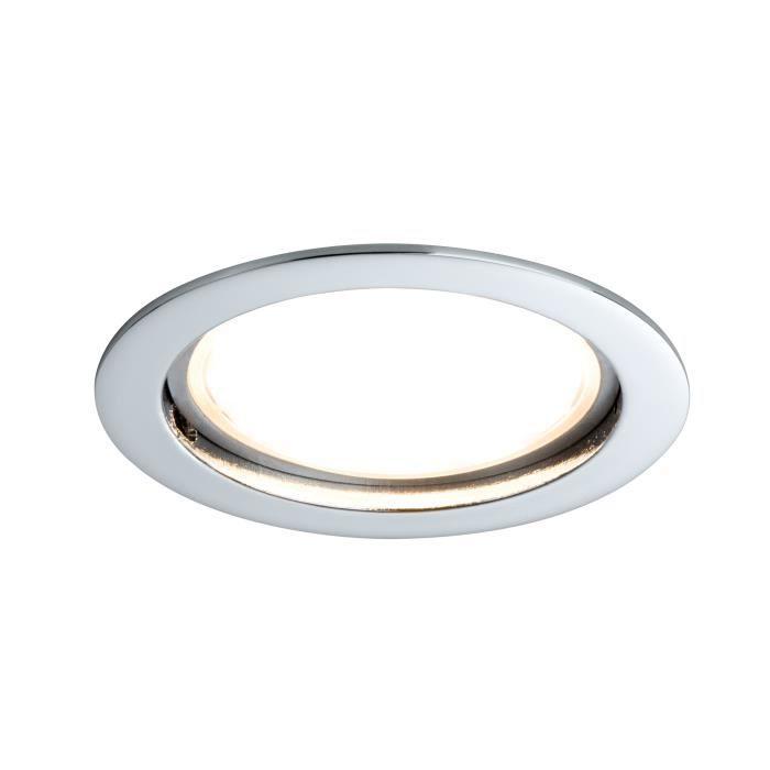 Paulmann 92788 Encastré LED Coin satiné rond 14W chrome Kit unitaire à intensité variable